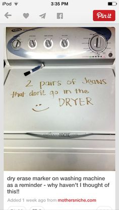 Perfect for teaching family to wash their own clothes when they're of age - especially the husband lol