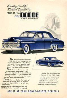 Sparkling New Style Traditional Dependability that's the New 1950 Dodge DeLuxe