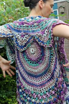Crochet Circular Vest Pattern | Circular vest - cirkel vest | Flickr - Photo Sharing!