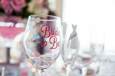 Bride to be wine glass!