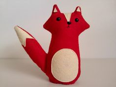 Wesley the red woodland fox - made to order by sleepy king. $28.00, via Etsy.