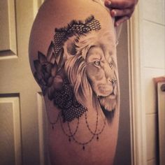 lace lion tattoo - Google zoeken