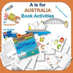 A is for Australia Book Activities cover