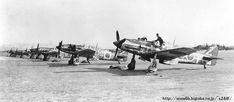 浜松 三方原飛行場の準備線に居並ぶ駿翼たち