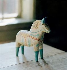 dala horses make great decor and even toys for gentle toddlers who are past the chewing/sucking on things phase.