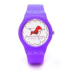 Meet Me at the Beach Custom Plastic Watch