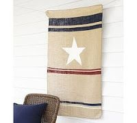 Pottery Barn knockoff: Mini Fourth of July Hanging Burlap Banner