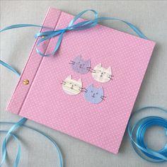 Miauuuuuu cute baby photoalbum for girl www.introligatorka.pl