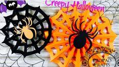 TELA DE ARAÑA DE PAPEL | HALLOWEEN | MOLDES GRATIS | HALLOWEEN CRAFTS | ...