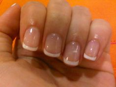 My ideal length/shape, gorgeous gelish french manicure!