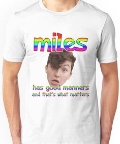 Mileschronicles- Miles McKenna Unisex T-Shirt Joker Clown, Clown Mask, Miles Chronicles, Miles Mckenna, Manners, Inspire Me, Youtubers, Lgbt, Queens