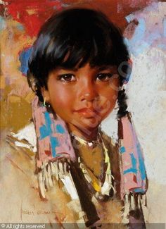 harley brown paintings | BROWN Harley W. - Indian Girl