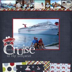 scrapbook pages + cruise - Google Search