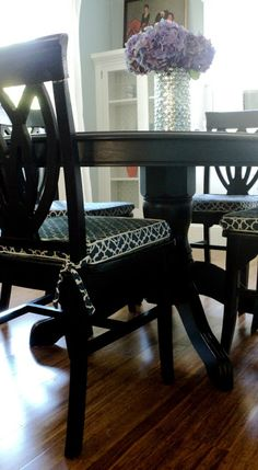 Living In The Rain Garden Dining Room Chair Cushion Slipcover Tutorial If Only