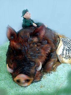 Wild Boar Cake by 6eki.deviantart.com