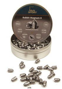 H&N Rabbit Magnum II .177 Cal, 15.74 Grains, Cylindrical with Round Nose, Solid, 200ct by Haendler & Natermann. $11.95. .177 caliber 15.74 grains Cylindrical with round nose Solid pellets; use in powerful guns 200 pellets