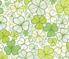 Lucky clovers fabric by oksancia on Spoonflower - custom fabric