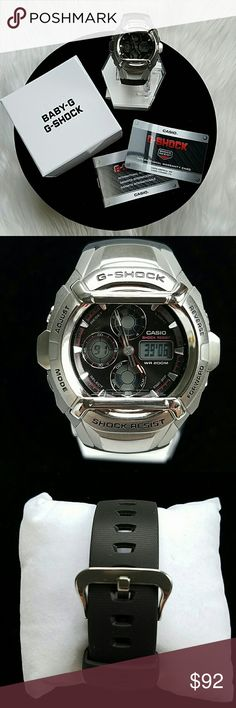 "Men's G-Shock Casio G-511-1AV Watch Like going fast? These cockpit inspired designs put the ""G"" in G-Shock.  From the Autobahn to North Carolina's Tail of The Dragon, these timepieces will keep you going with style. We can't keep you from a speeding a ticket. Black resin analog & digital watch with a black face.  Water Resistant up to 200 Meters Electro-lumincent Backlight with Afterglow' Alarm 4 Daily/1 Snooze Band Type:  Resin Color:  Black Dial Code:  Analog/Digital ??PRICE IS FIRM??…"