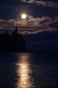Full Moon over Split Rock Lighthouse, Lake Superior, Minnesota