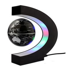 Anti Gravity Magnetic Floating Globe World Map with LED Light! Bedroom Gadgets, Home Gadgets, Latest Gadgets, Rotating Globe, Kids Office, Office Desk, Magnetic Levitation, World Map Decor, Floating Lights