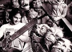 Peter Jackson with props from Bad Taste