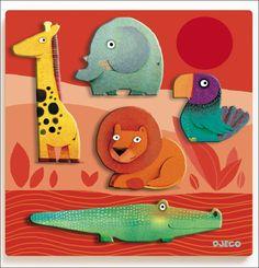 houten jungle relief puzzel 12mnd Leoni #Puzzle #Jungle #Wood by #Djeco from http://www.kidsdinge.com https://www.facebook.com/pages/kidsdingecom-Origineel-speelgoed-hebbedingen-voor-hippe-kids/160122710686387?sk=wall http://instagram.com/kidsdinge #Toys #Speelgoed