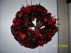 Glitzy Valentine Deco Mesh Wreath by AmazingGraceWreaths on Etsy