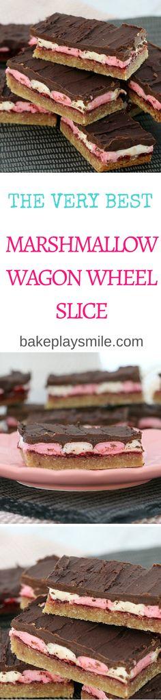 Marshmallow Wagon Wheel Slice