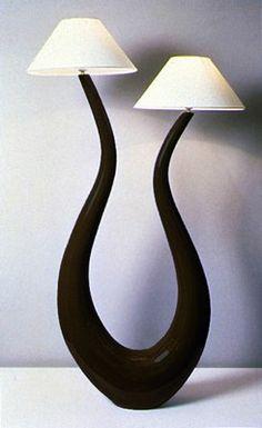 Amazing Lampe Lyre La D co ethnique c uest chic Sculpt e dans le pl tre