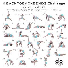 Announcing the July Yoga Challenge! #BacktoBackbends Hosts: @beachyogagirl & @kinoyoga Sponsor: @aloyoga We have designed next month's yoga challenge to help inspire you to become stronger and more f (Fitness Inspiration Dance) #YogaChallenge #YogaTipsAn