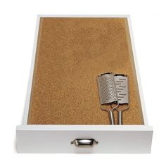 Cushiony, absorbent and naturally resistant to mold and mildew, cork is ideal for lining drawers and shelves.