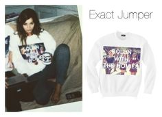 """""""eleanorj92: Bloggin' in our @Untitledandco jumpers.. #rollingwiththehomies"""" by thetrendpear-eleanor ❤ liked on Polyvore featuring Calder"""