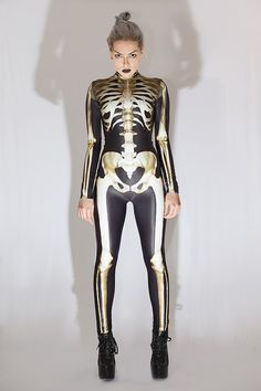 41 Cute Halloween Outfits to Check Out Now Cute Halloween Outfits, Sexy Halloween Costumes, Adult Costumes, Costumes For Women, Women Halloween, Halloween Fashion, Elefante Tribal, Skeleton Bodysuit, Halloween Kleidung