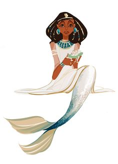 ☆ Mermaid Art By :→: Sully-S ☆ two of my favorite things mermaid and Egyptian Magical Creatures, Fantasy Creatures, Sea Creatures, Black Mermaid, The Little Mermaid, Character Inspiration, Character Design, Mermaid Illustration, Mermaid Fairy