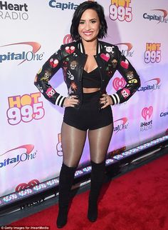 Demi Lovato is a Jingle Ball knockout at Hot 95.5 concert in Washington, D.C | Daily Mail Online