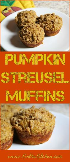 Made with lots of pumpkin and Greek yogurt, these whole wheat Pumpkin Streusel Muffins are a filling and delicious breakfast food.