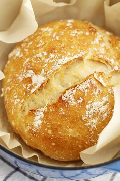 No Knead Dutch Oven Bread Baking beautiful (and delicious!) bread couldn't be easier with this no-knead Dutch oven artisan loaf. Dutch Oven Bread, Dutch Oven Cooking, Dutch Oven Recipes, Cooking Recipes, Dutch Ovens, Bread Oven, Dutch Food, Cooking Gadgets, Cooking Tools