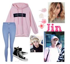 """""""Sem título #852"""" by flet-irwin on Polyvore featuring moda, New Look, Converse e Accessorize"""