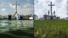 See then-and-now photos of the region devastated by Hurricane Katrina in 2005. At least 1,833 died in the hurricane and subsequent floods. It was the costliest natural disaster in U.S. history.