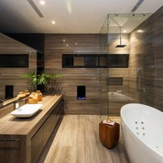 Luxury Contemporary Bathroom, CH House by GLR Arquitectos Bad Inspiration, Bathroom Inspiration, Bathroom Ideas, Bathroom Designs, Bathroom Storage, Bathroom Plans, Shower Designs, Bathroom Trends, Bathroom Pictures