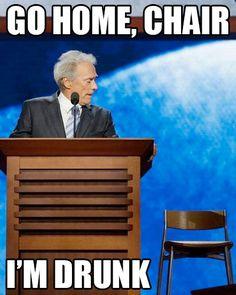 Clint Eastwood's GOP speech inner dialogue.