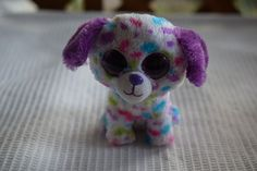 "Ty Beanie Boos DARLING 5.5"" Plush Dog with Big Sparkle Eyes JUSTICE EXCLUSIVE #Ty"