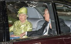 dailymail: Sunday Service, Crathie Church, Balmoral, August 13, 2017-Queen Elizabeth and the Duke of York