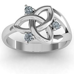 Siobhán Celtic Knot Ring - would love to reset my diamonds into this design