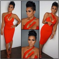 Basketball Wives Laura Govan In Red Bodycon dress