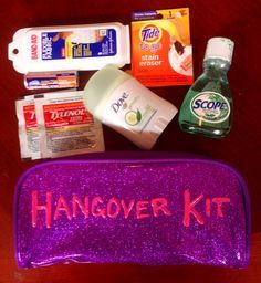 Hangover Kit 21st Birthday Idea Gift