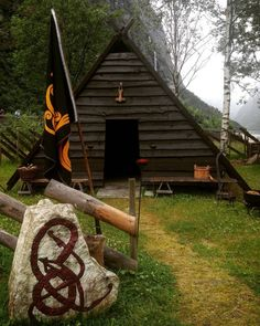 """""""Come, little leaves,"""" said the wind one day. """"Come over the meadows with me and play. Put on your dresses of red and gold, Summer is gone, and the days grow cold. Viking Hall, Bar Metal, Mead Hall, Larp, Vikings Live, Viking Decor, Tyni House, Viking House, Viking Village"""