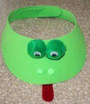 Art: frog craft, visor