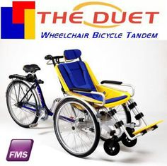 Wheelchair bicycle tandem...awesome resource for parents of children who depend on wheelchairs .