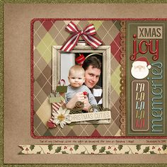#christmas scrapbook page - so cute by @Trisha Burton